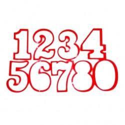 'Набор цифр 9см' набор вырубок для печенья пластик(красный) 9шт