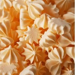 Безе (рифленые) малые персиковые 50гр