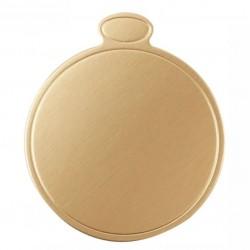 Упаковка сольерок для пирожного КРУГ золото D=9см 100шт