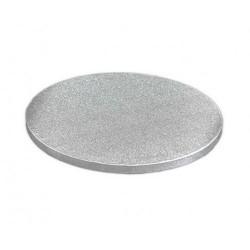 Поднос для торта круг картон серебро Англия 30см 13мм