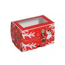 Коробка для капкейков на 2 ячейки ЩЕЛКУНЧИК 16*10*10см 5117689