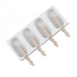 Силиконовая форма для мороженого на 8 шт (белый)