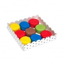 Коробка для пряников 15*15*3 см Горох белая 4987520