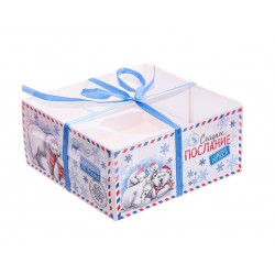 Коробка для капкейка с PVC-крышкой «Сладкое послание», 16 ? 16 ? 7,5 см 3597118