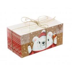 Коробка для капкейка «С Праздником!», 8*16*7,5 см 3597138