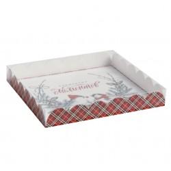 Коробка для кондитерских изделий с PVC крышкой «Волшебных моментов», 21 ? 21 ? 3 см 4386236