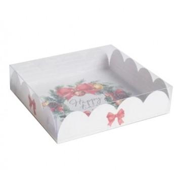 Коробка для кондитерских изделий с PVC крышкой Happy time, 13 х 13 х 3 см   4386253