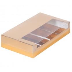 Коробка для эклеров на 5 ложментов 25*15*5 см (золото) 080822
