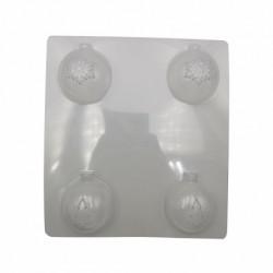 Пластиковая форма для шоколада Новогодние шары 5 50мм 51285
