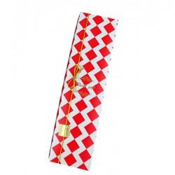 Коробка для  Macarons РОМБЫ красные раскладная 23*6*5см