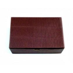Коробочка раскладная гофро коричневый прямоугольная (без окна)18*12*5 см