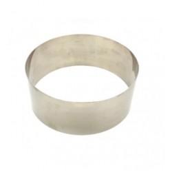 Кольцо рамка кондитерская для мусса ВЫСОКАЯ H=8 D=30см металл