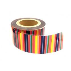 Цветная лента для мусса в рулоне Радуга, 1 м, высота 8 см