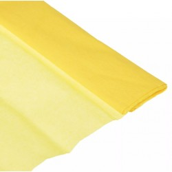 Бумага тишью желтая 50*64см, 20 листов