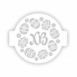 Трафарет для торта ХВ яйцо 14 см 207423