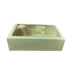 Коробка для зефира Новогодняя, 25*15*7, белый, 1 шт