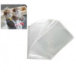ПАКЕТ для пряника прозрачный с клейкой лентой 10*15см(+3см загиб) 25шт