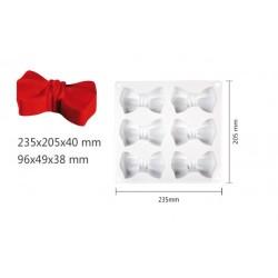'Бантики' силиконовая форма для выпечки/мусса (10*2см)