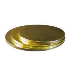Поднос для торта круг золото картон 35см 11мм
