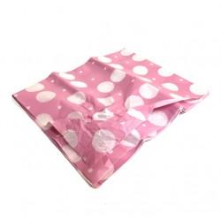 Бумага тишью горох крупный белый на розовом 50*66см 10 листов 29/11БТ