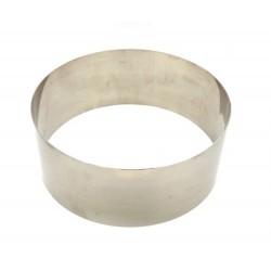 Кольцо рамка кондитерская для мусса ВЫСОКАЯ H=8 D=26см металл