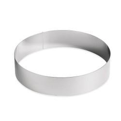 Кольцо рамка кондитерская для мусса металл d=24см h=5см