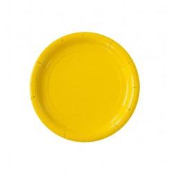 Тарелка бумажная, однотонная, жёлтый цвет, 18 см (10 шт) 1419919