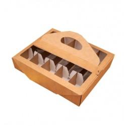 Коробка для 10 кейкпопсов,крафт (у00454) WM