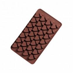 Форма для шоколада «Сердечки» 19,5*11,5см  56 ячеек цвет МИКС 1403928