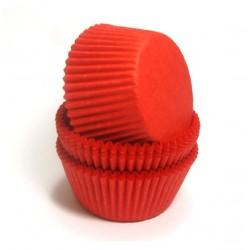 Формочки (мини) бумажные для конфет/кейкпопсов КРАСНЫЕ 3см*2,3см (1 связка)
