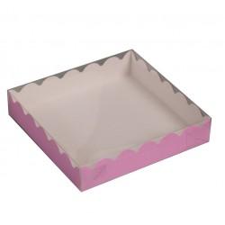 Коробка для пряников 15*15*3 см сиреневая 4488801