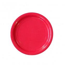Тарелка бумажная, однотонная, красный цвет, 18 см (10 шт) 1419924