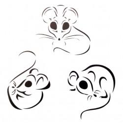 Трафарет 'Мышки символ года' LC-00008949 пластик