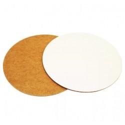 Подложка 40см круглая деревянная белая, 3мм LP