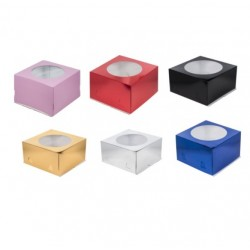 РАСПРОДАЖА_Коробка для торта с окошком, 300*300*190 мм цвет в ассортименьте