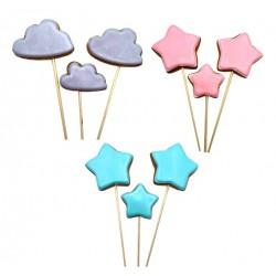 'Звезды/сердца' пряники на палочке в ассортименте, набор 3шт