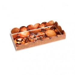 Коробка для кондитерских изделий с PVC крышкой «Все получится» 10.5*21*3см 4386245