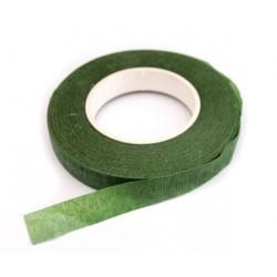 Лента флористическая темно-зеленая 38м*1,2см