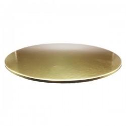 Поднос для торта круг золото картон 29,5см 5мм