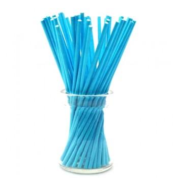 'Голубые плотные',палочки для кейкпопсов,бумага,1 шт,15см