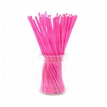'Розовые плотные',палочки для кейкпопсов,бумага,1 шт,15см