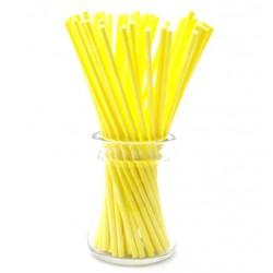 'Желтые плотные',палочки для кейкпопсов,бумага,1 шт,15см
