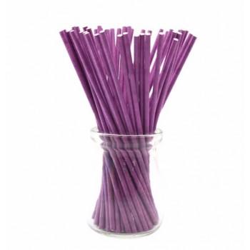 'Фиолетовые плотные',палочки для кейкпопсов,бумага,1 шт,15см