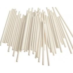 Палочки для кейкпопсов,бумага,белый,100 шт,15 см