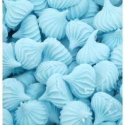 Безе (рифленые) средние голубые 50гр