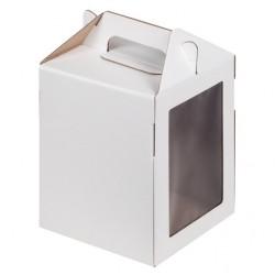 Коробка под пряничный домик и кулич 160*160*200 мм (белая) гофрокартон (020800)