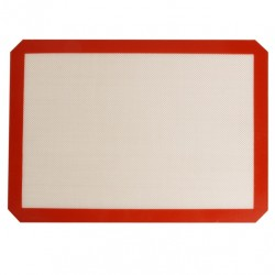 Силиконовый коврик для выпечки протканенный, гладкий, 40*30 см