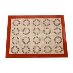 Силиконовый коврик для выпечки протканенный для Macaronc, гладкий, 40*30 см