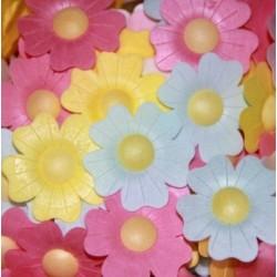 'Цветы шиповника' вафельное украшение, 10 шт
