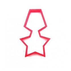 'Орден звезда' вырубка для пряника пластик красный 10см